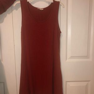 Red casual short dress